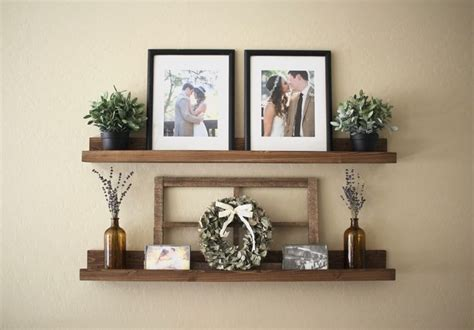 wood floating shelf rustic home decor rustic by 25 best ideas about rustic gallery wall on pinterest