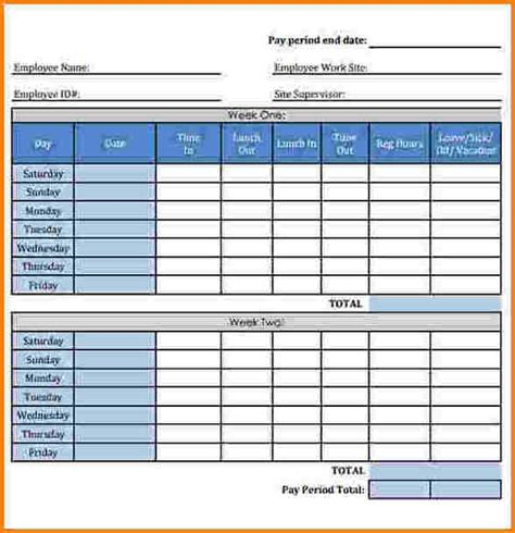 bi weekly time card template payroll timesheet calculator cop s overtime calculator by