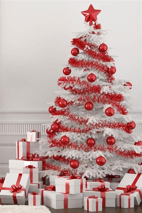 images of white trees decorated white tree with decorations designcorner