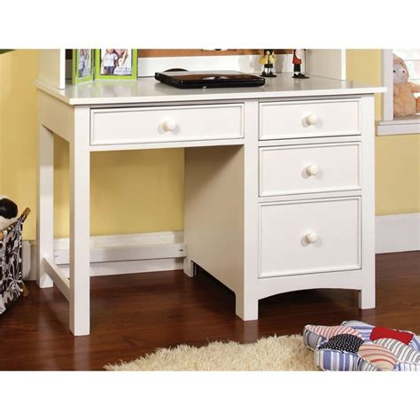 Kid Desk L Furniture Of America Ruthie Modern Desk In White Idf 7905wh Dk