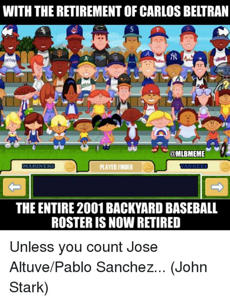 backyard baseball roster 25 best memes about altuve altuve memes