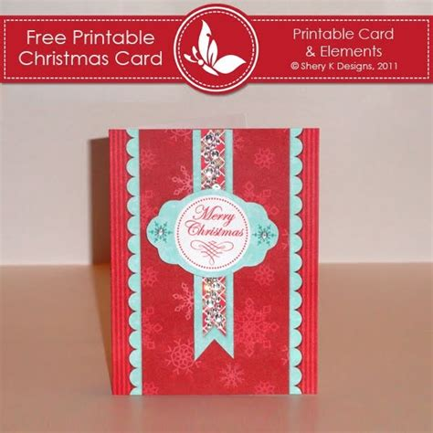 printable christmas cards for her shery k designs free printable christmas card