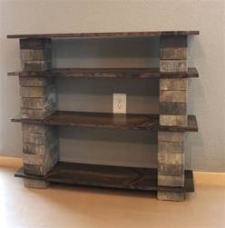 Diy Bookshelve Diy Concrete Block Bookshelf The Craft