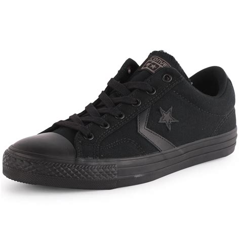converse player ox unisex canvas trainers black black