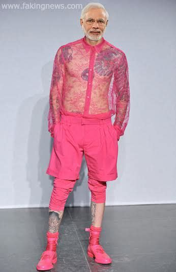 Dress Modis Nikky Style exclusive pics showing what modi s fashion designer is planning for him