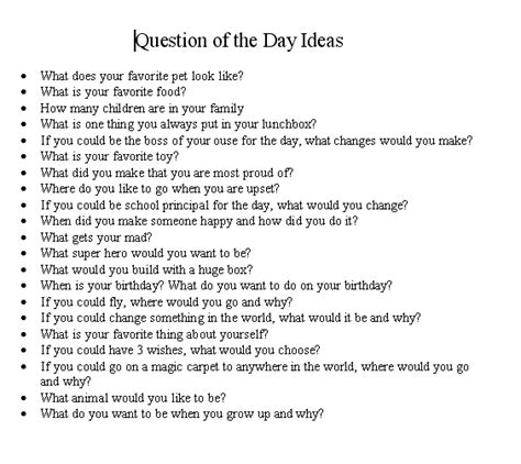 Or Question Ideas Question Of The Day Ideas