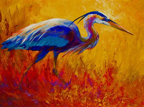great acrylic paint acrylic lesson wildlife great blue heron painting