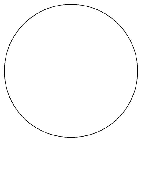 printable circle simple shapes coloring pages