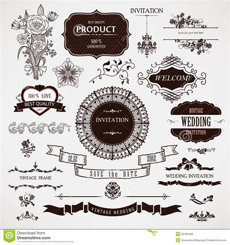 wedding design elements vector vector wedding design elements and calligraphic page