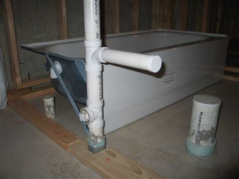 plumbing a bathtub drain basement bathtub installation