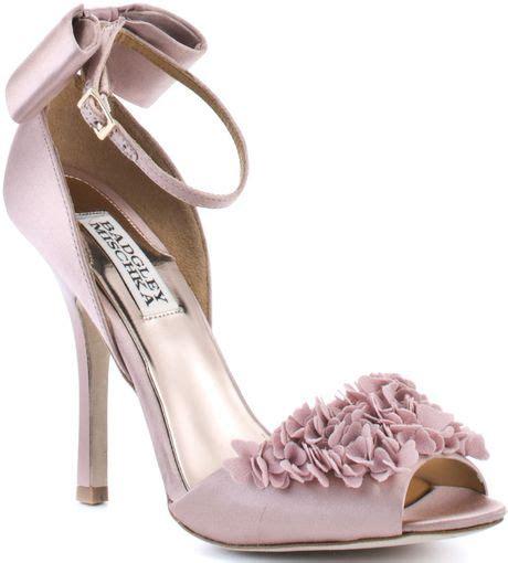 Badgley Mischka Randee Pink Satin Heels by Badgley Mischka Lelah Satin In Pink Lyst
