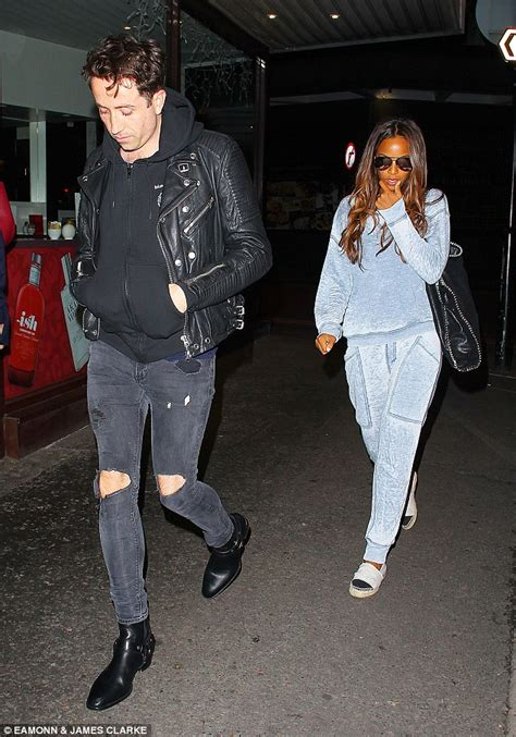 Manchester City Exclusive 06 Black rochelle humes and nick grimshaw enjoy a relaxed dinner