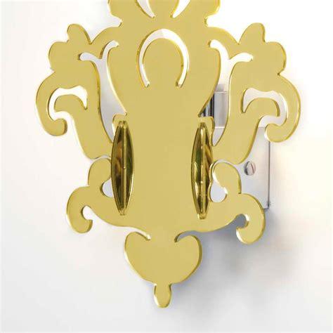 applique a muro applique anthea gold a muro in plexiglass colore oro