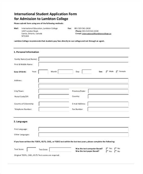 Admission Application by 41 Sle Student Application Forms