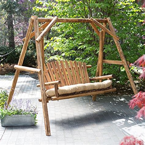 porch swing kits sale coral coast rustic oak log curved back porch swing and a
