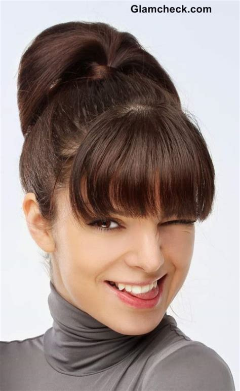 hair in pony tail with bangs hairstyle how to ponytail with bangs for short hair