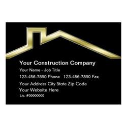construction business cards templates construction business cards