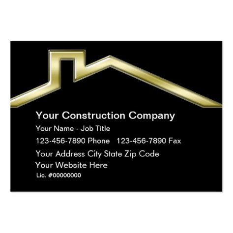 construction business card templates construction business cards