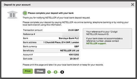 can you make a bank transfer from a credit card how to deposit into my neteller account