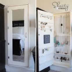 White Over The Door Jewelry Armoire Diy Jewelry Organizer Shanty 2 Chic