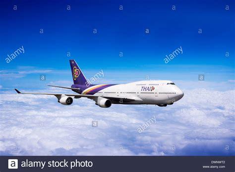 Thai Boeing 747 Passenger Airplane Alloy Plane Aircraft Metal Diecast boeing 747 thai airways im flug stockfoto bild 67478770 alamy
