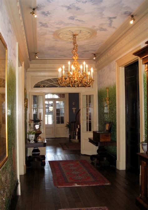 antebellum home interiors houmas house plantation house interior entrance hallway southern plantation