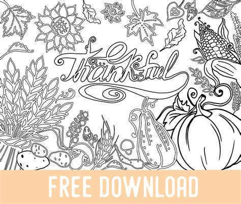 thanksgiving coloring pages download free thanksgiving coloring page adult coloring books