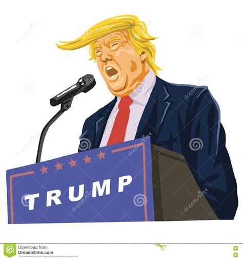 trump cartoon download donald trump giving speech cartoon vector via