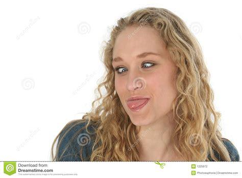 blonde teen tongue beautiful girl tongue stock photography image 1225972