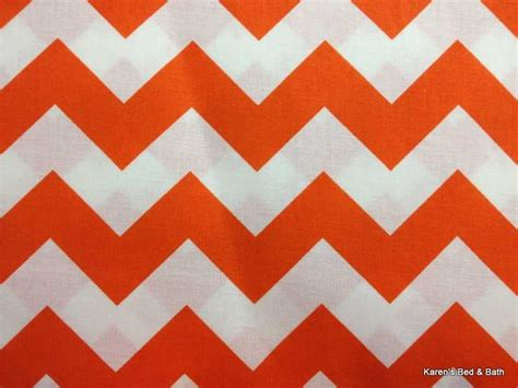 orange and white chevron curtains bold orange white chevron zigzag stripe pattern print