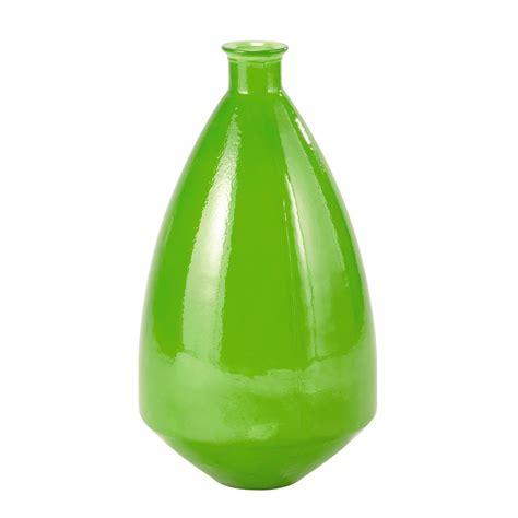 vase en verre vert h 60 cm luis maisons du monde