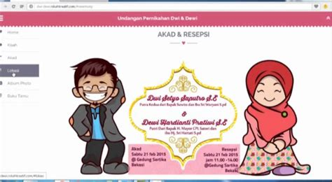 desain undangan pernikahan karikatur undangan pernikahan website 08989750182 youtube