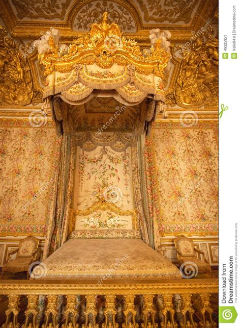 interior of royal bedroom at palace of versailles in paris