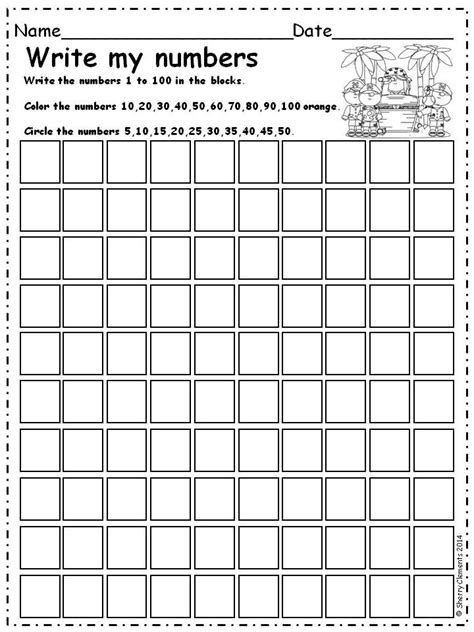 Writing Numbers 1 100 Worksheet by Tracing Numbers 1 100 Worksheets Images