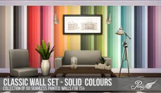 Custom Made Cornices Simsational Designs Classic Walls For Ts4 Solid Colours
