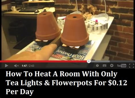 how to heat your room how to heat a room using just tea lights flowerpots for 0 12 per day diy and crafts
