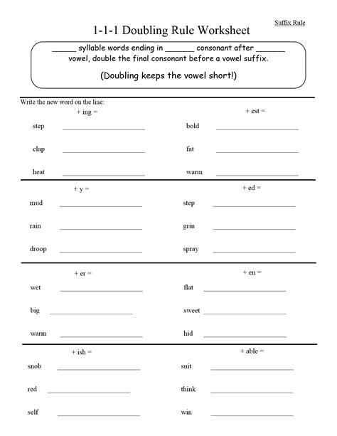 double pattern worksheet double consonant spelling worksheets third grade double