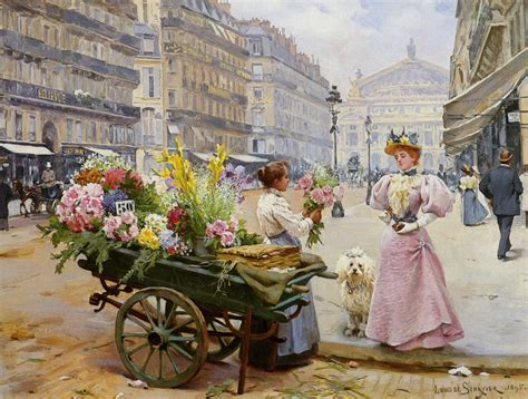 belle epoque louis de schryver the flower seller la belle 201 poque
