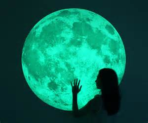 massive glow in the dark full moon wall sticker the glow in the dark wall decals
