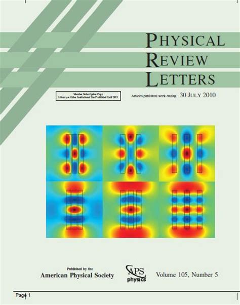 physical review letters how to get papers into prl and prb argonne national 1539