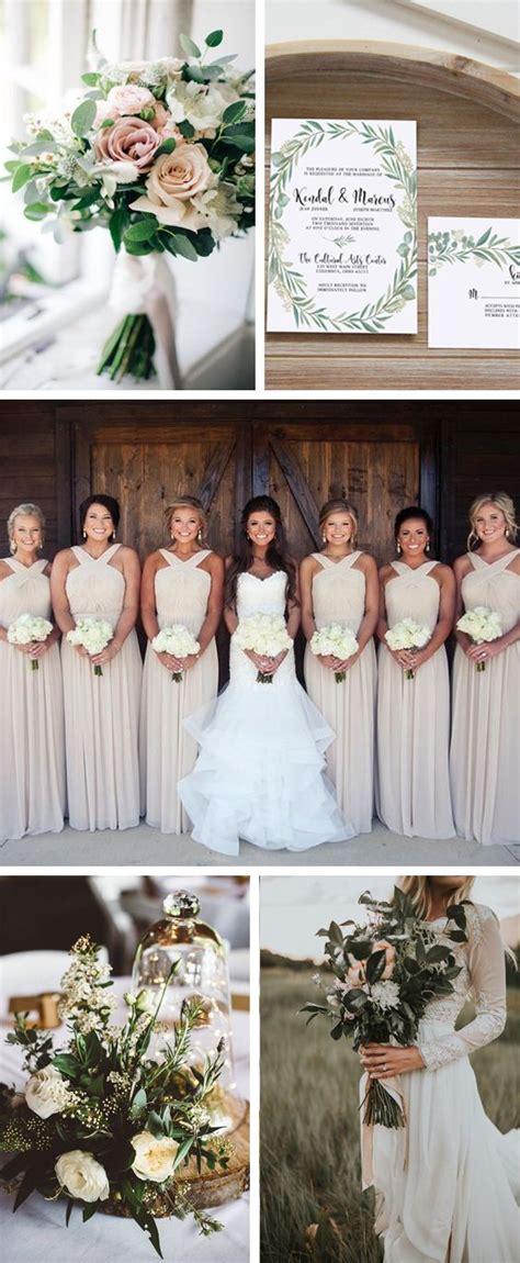 neutral wedding colors neutral wedding colors greenery wedding with eucalyptus