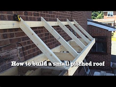 Pitched Roof Framing How To Build A Small Pitched Roof 2