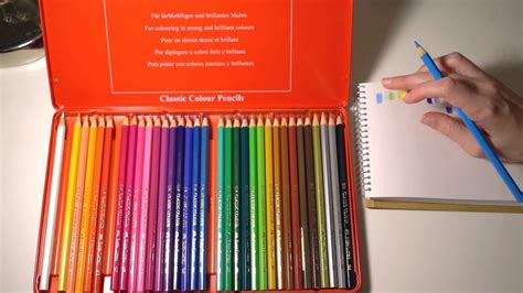 Faber Castell Classic Colour Pencils 36 Pcs asmr testing materials faber castell classic coloured pencils with whispering