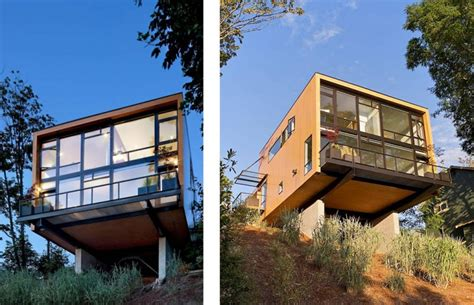 contemporary cantilever house design by paris architects cantilevered house in seattle by replinger hossner architects