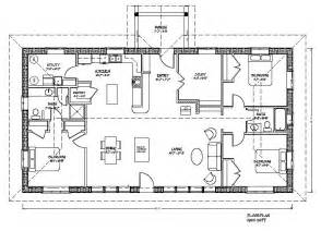rectangular home plans eco family plan