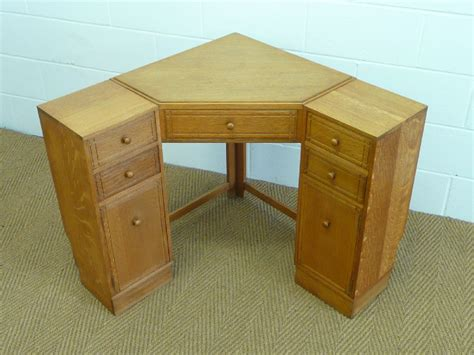 heal s oak corner desk 238287 sellingantiques co uk