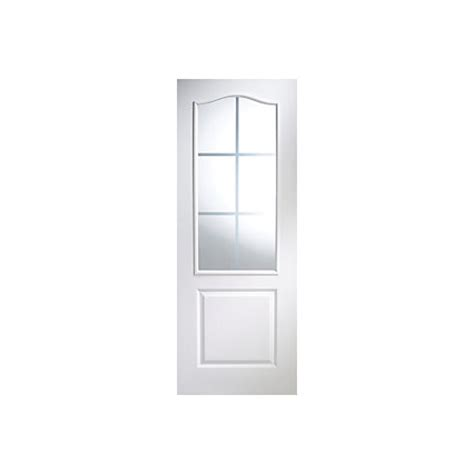 B Q Glass Doors 2 Panel Arched Pre Painted White Woodgrain Glazed Door H 1981mm W 838mm