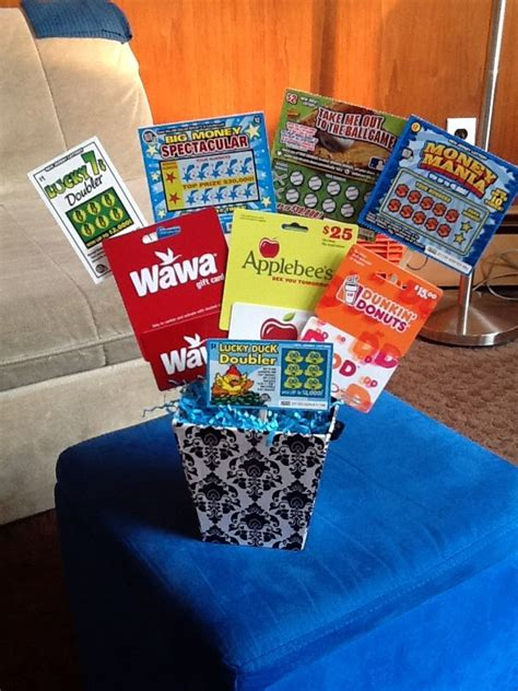 Gift Card Bouquet Ideas - 25 best ideas about lottery ticket gift on pinterest