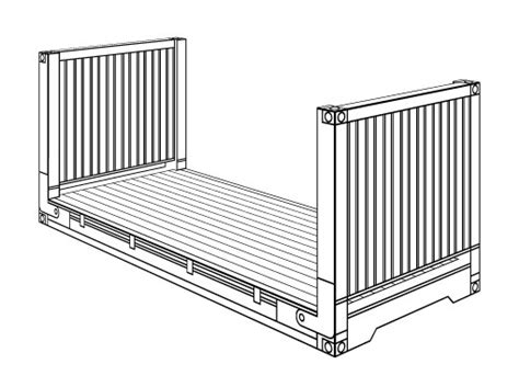 flat rack shipping container specifications