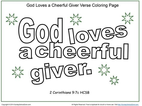 God A Cheerful Giver Coloring Page god a cheerful giver coloring page coloring home
